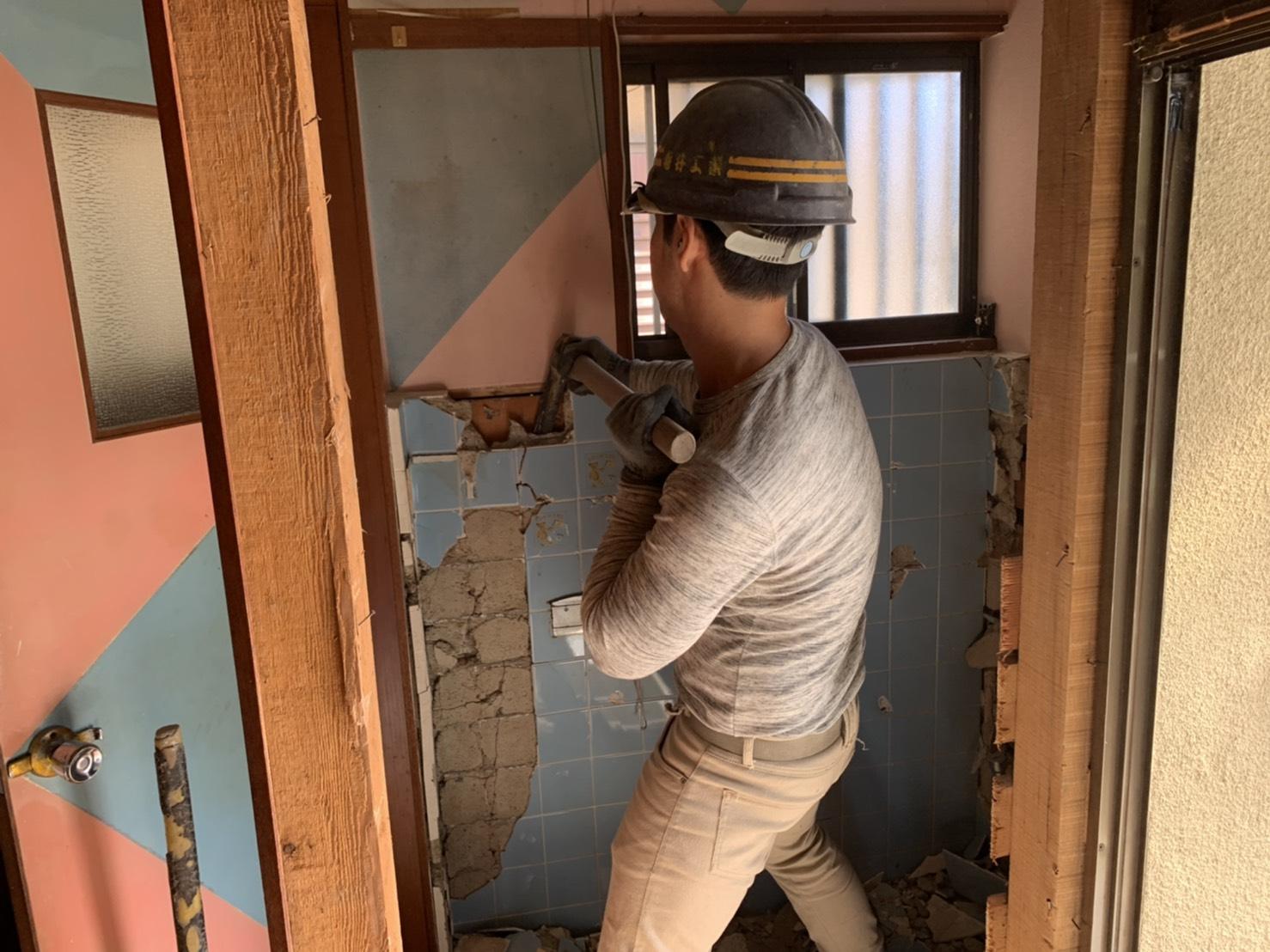 京都市 解体工事 「 滋賀県大津市  木造2階建家屋内部解体工事 」 DAY2