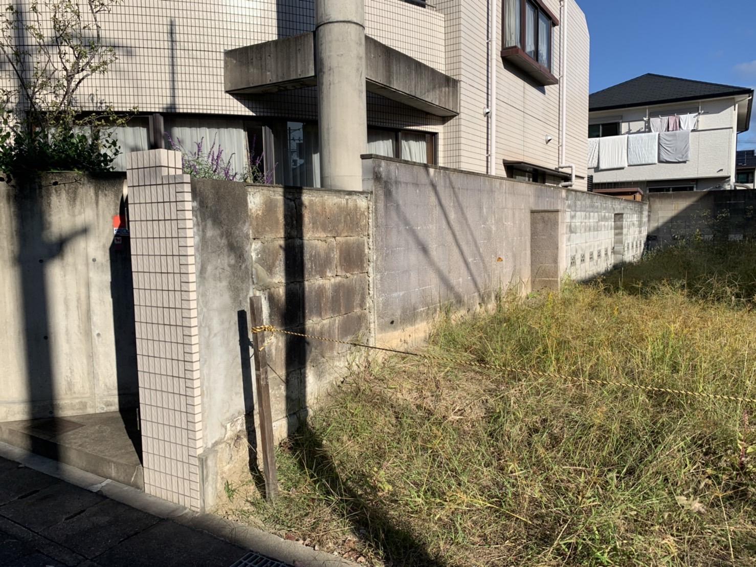 京都市 解体工事 『西京区川島有栖川町』CBブロック塀解体