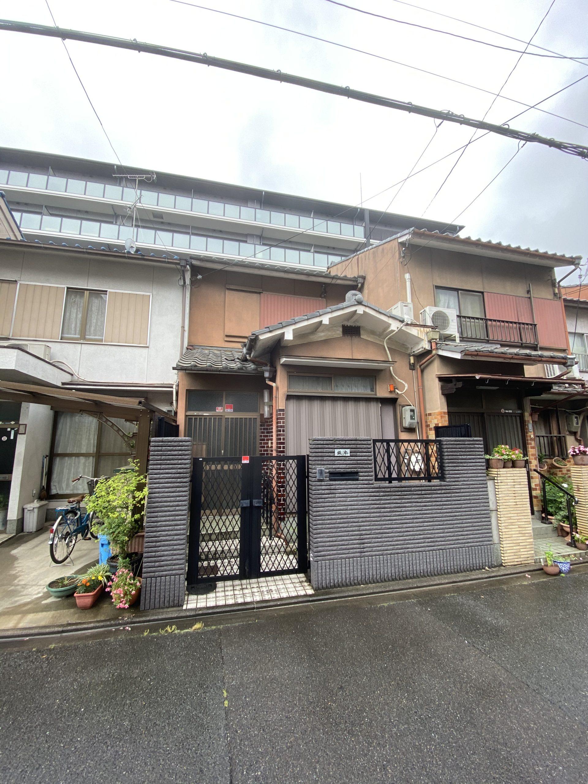 京都市 解体工事 「 南区 東九条 木造2階建 」
