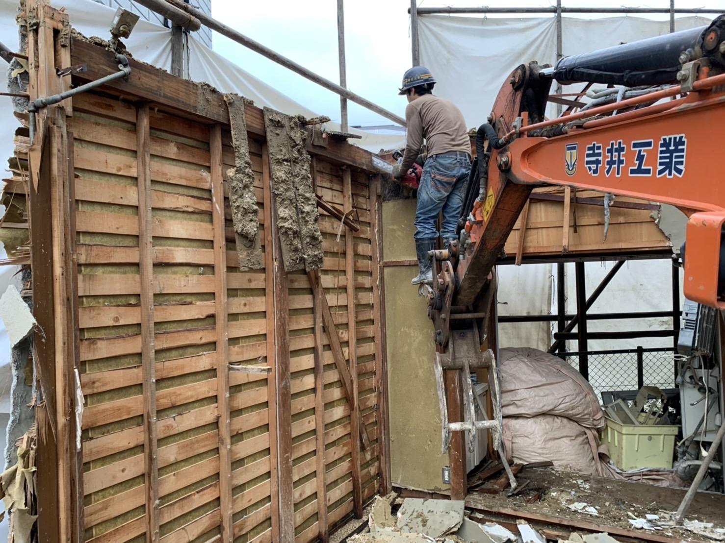 京都市 解体工事 「 伏見区深草 木造2階建 」 DAY3