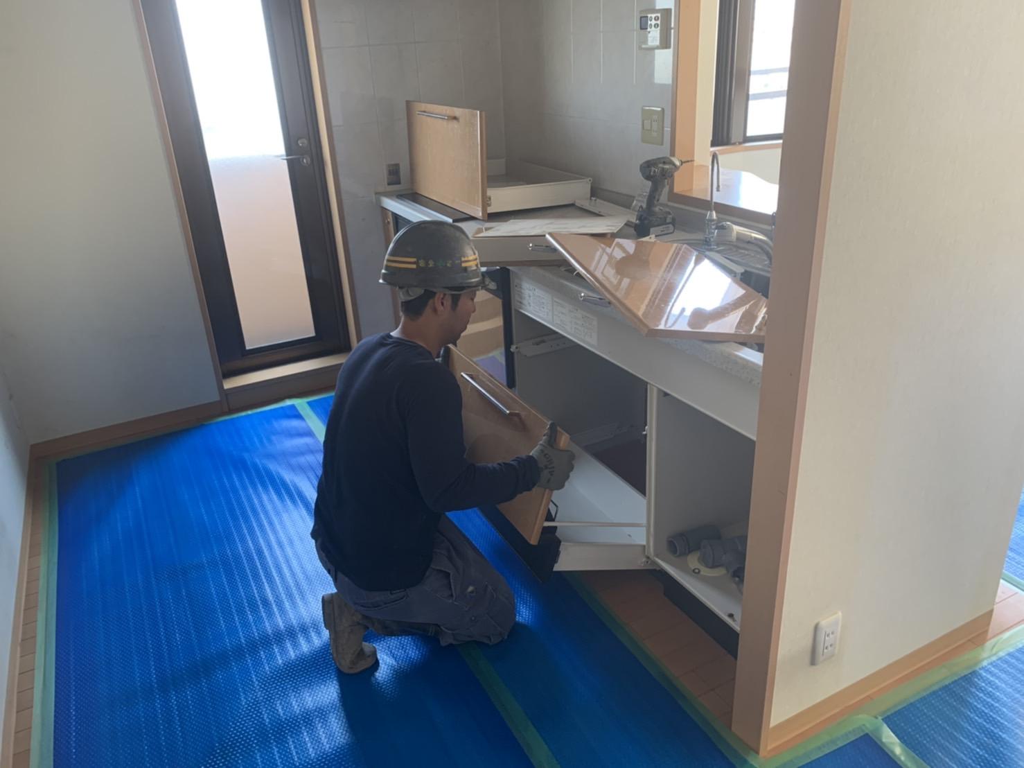 京都市 解体工事 「 マンションのキッチン解体 」