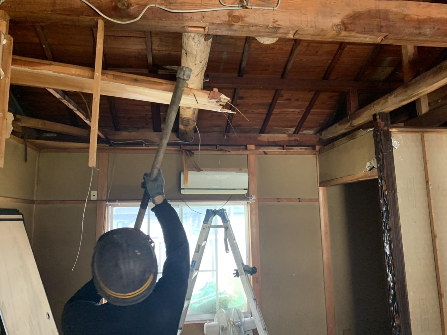 京都市 解体工事 「 南区 東九条 木造2階建 」 DAY2
