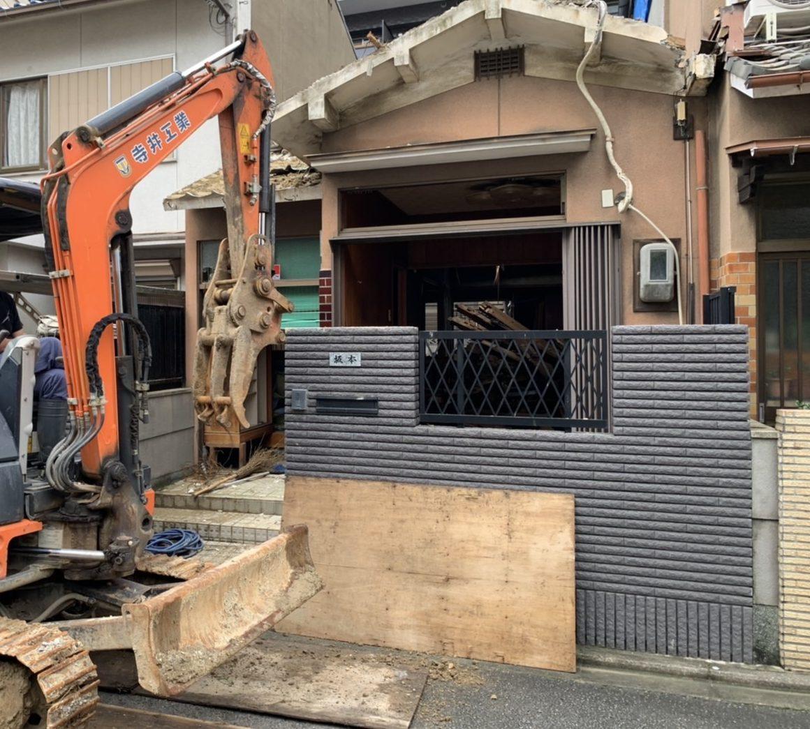 京都市 解体工事 「 南区 東九条 木造2階建 」 DAY4