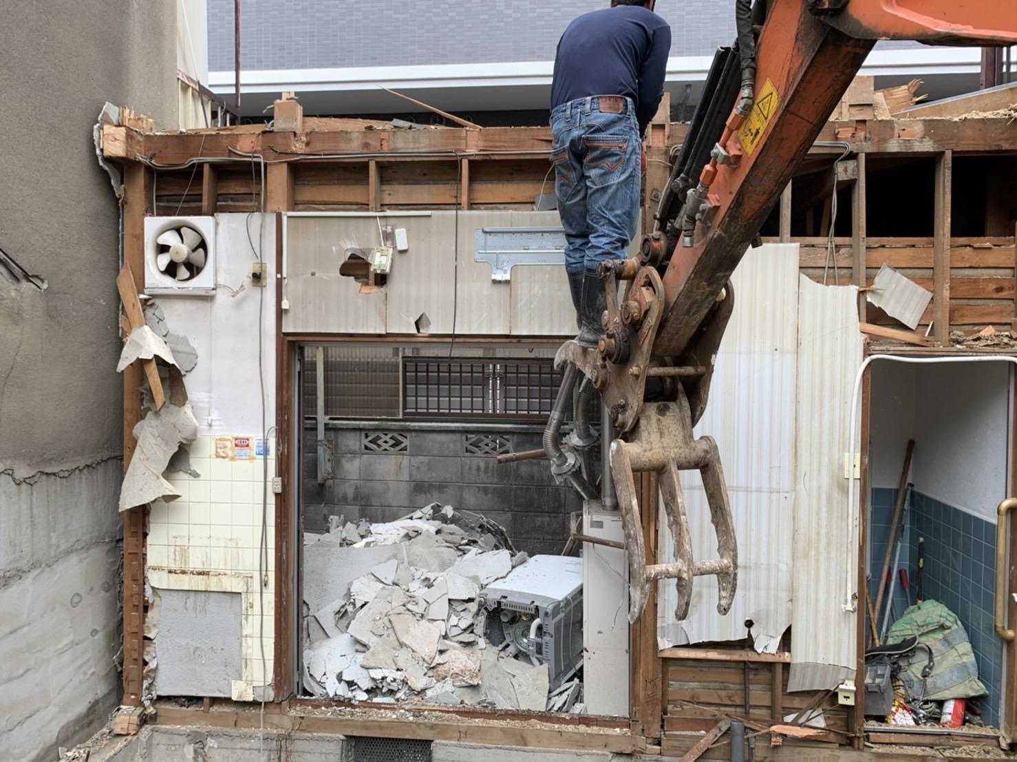 京都市 解体工事 「 南区 東九条 木造2階建 」 DAY5