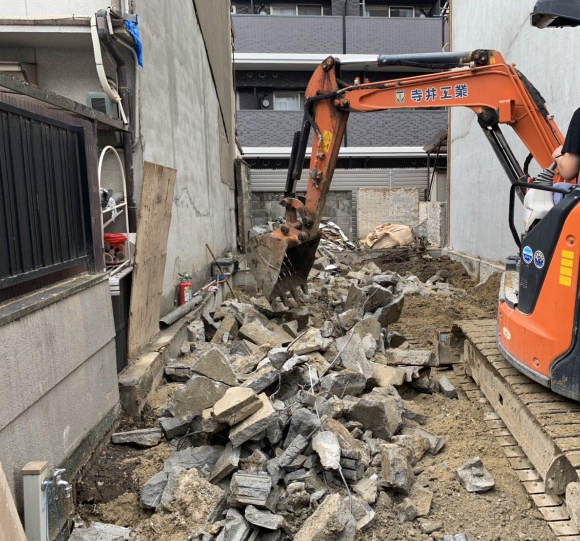 京都市 解体工事 「 南区 東九条 木造2階建 」 DAY6