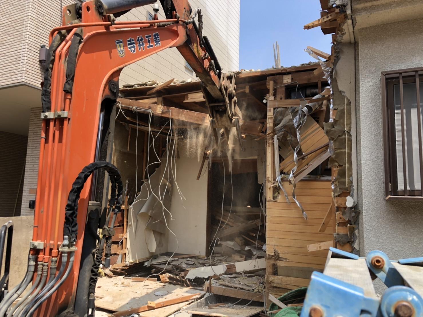 京都市 解体工事 「 右京区 西院 木造2階建 」 DAY3