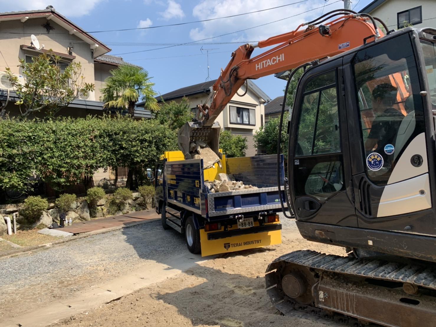 京都市 解体工事 「 左京区 松ヶ崎 木造2階建 」 DAY4 完了