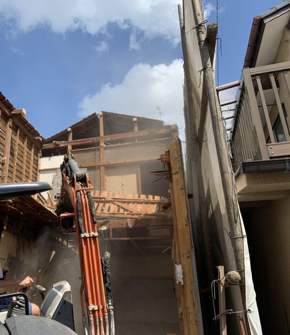 京都市 解体工事 「 伏見区  木造2階建 」 DAY2