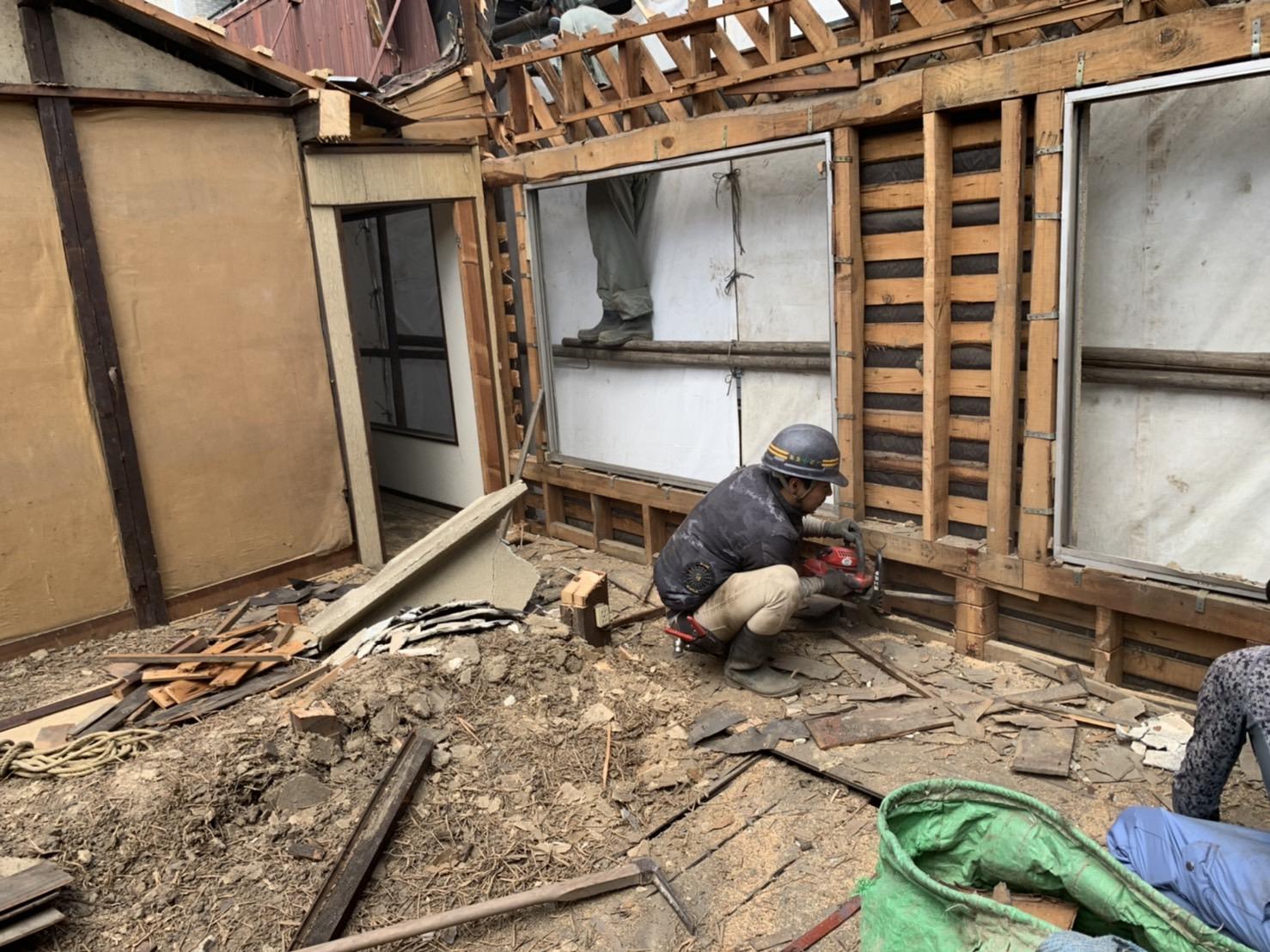 京都市 解体工事 「 上京区 堅富田町 木造2階建 」 DAY2