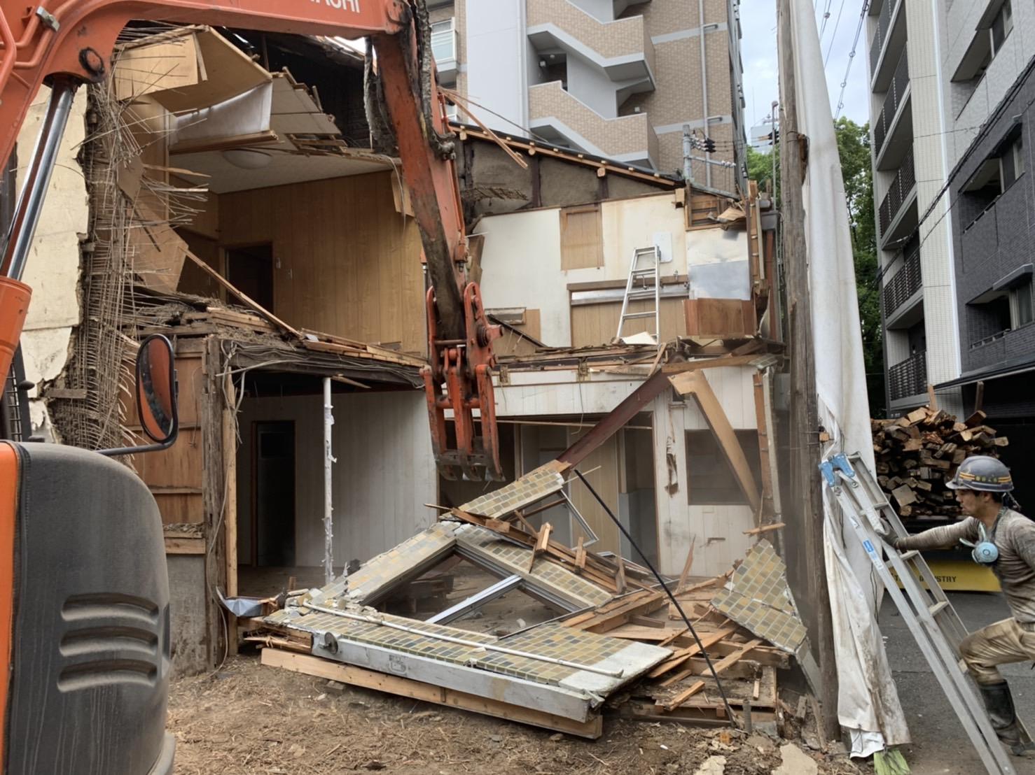 京都市 解体工事 「 上京区 堅富田町 木造2階建 」 DAY4