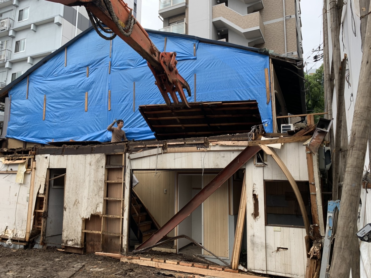 京都市 解体工事 「 上京区 堅富田町 木造2階建 」 DAY5