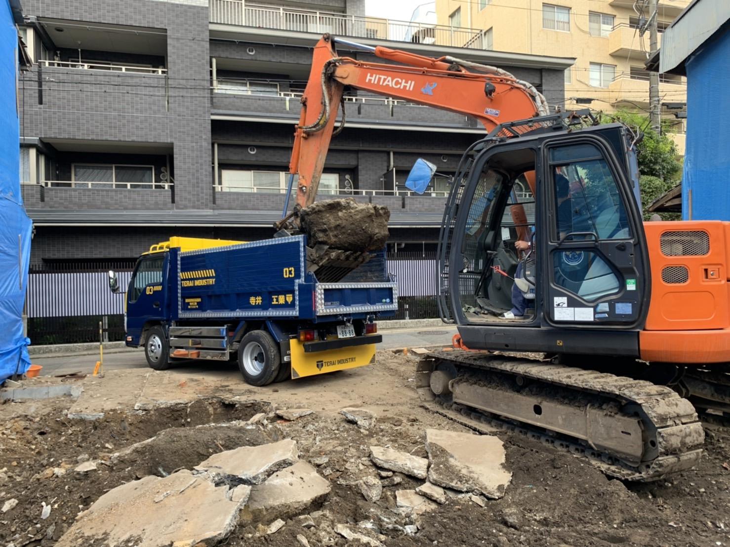 京都市 解体工事 「 上京区 堅富田町 木造2階建 」 DAY7