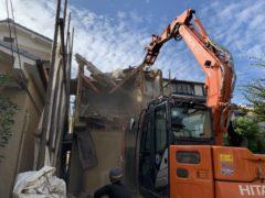 京都府 解体工事 「 向日市森本町 木造2階建 」 DAY3