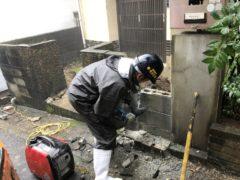 京都市 解体工事 「 西京区 山田開き町 外構撤去及び鋤取り工事 」