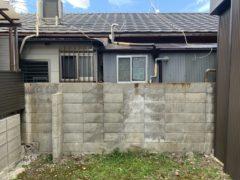 京都市 解体工事 「 右京区西院春栄町」CBブロック塀部分解体