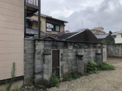 京都市 解体工事 『上京区西若宮南半町』CBブロック塀部分解体