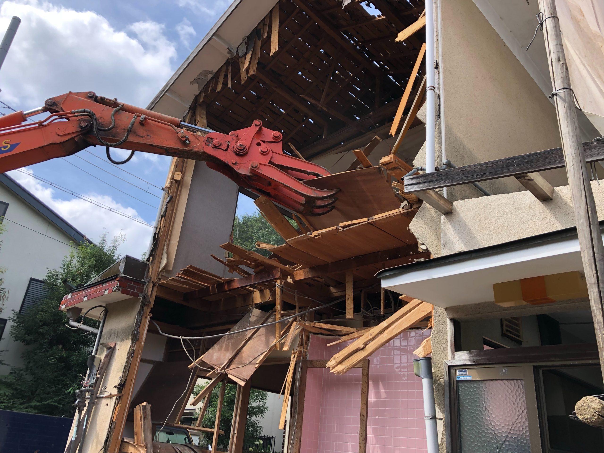 京都市 解体工事 「 左京区 松ヶ崎 木造2階建 」 DAY2