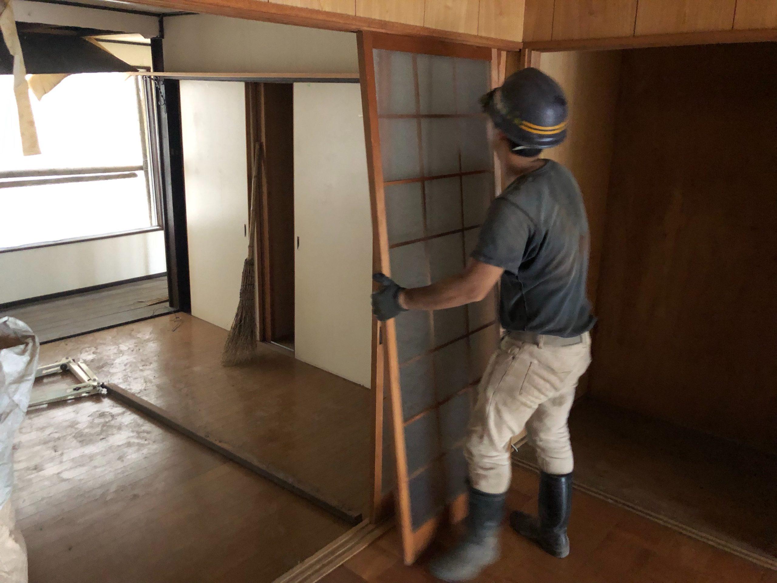 京都市 解体工事 「 上京区 堅富田町 木造2階建 」 DAY1 着工